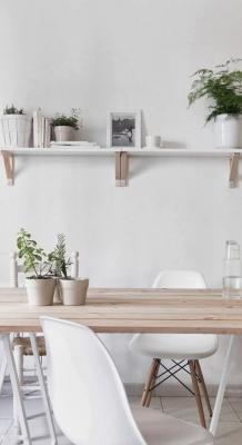 Puitmaterjal, liimpuitkilp, täispuitpõrand, hööveldatud laud - materjalid skandinaavia stiilis kodus32