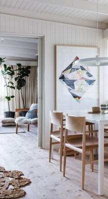 Puitmaterjal, liimpuitkilp, täispuitpõrand, hööveldatud laud - materjalid skandinaavia stiilis kodus35