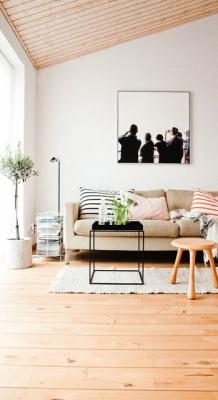 Puitmaterjal, liimpuitkilp, täispuitpõrand, hööveldatud laud - materjalid skandinaavia stiilis kodus37