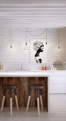 Puitmaterjal, liimpuitkilp, täispuitpõrand, hööveldatud laud - materjalid skandinaavia stiilis kodus49