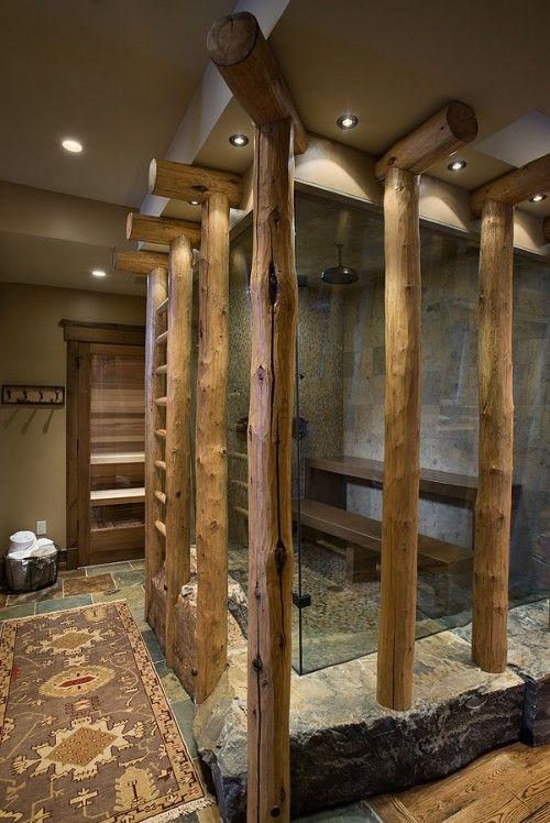 puidust sauna eesruum