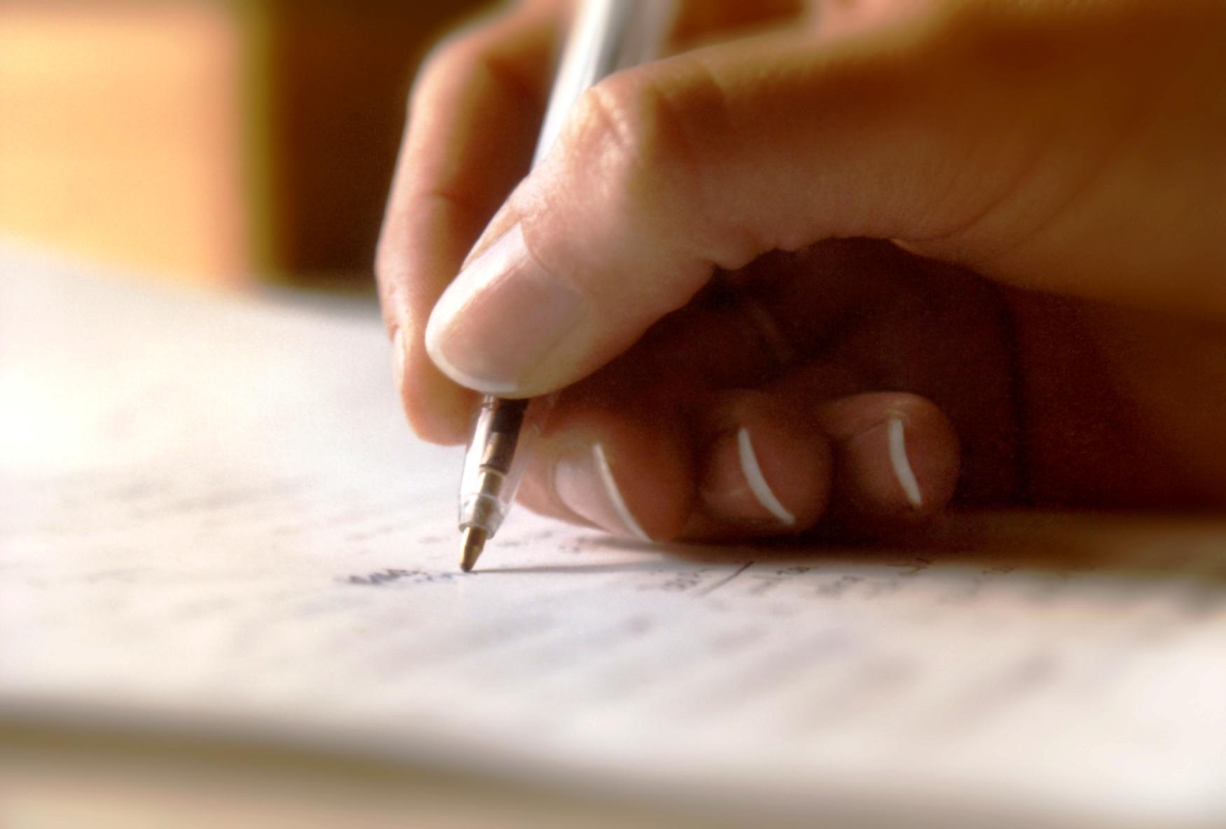 kirja kirjutamine