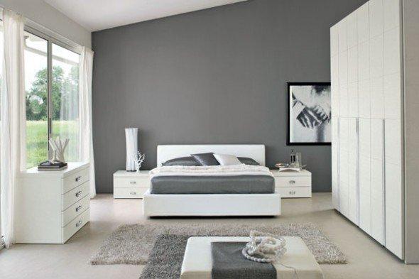 Hall värv magamistoas