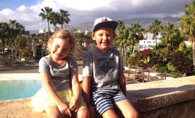 Lapsesobralik ja paikseline Tenerife - lastega
