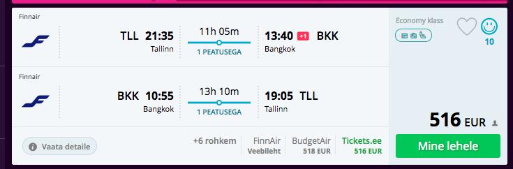 Jaanuaris Taisse Finnairiga
